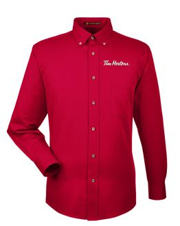 Picture of Long-Sleeve Twill Shirt with Stain-Release